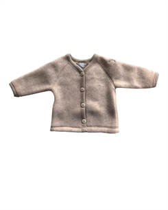 Smallstuff merino uld Cardigan - nature