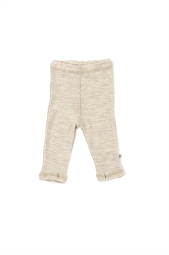 Smallstuff merino uld leggings - Nature