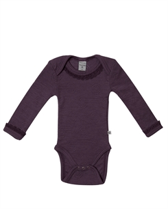 Smallstuff merino uld body - Dark rose