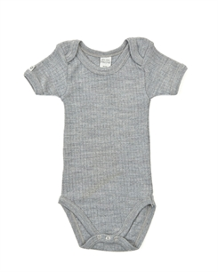 Smallstuff merino uld body - Grey melange