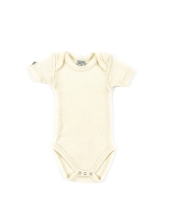 Smallstuff merino uld body - Jaquard off white
