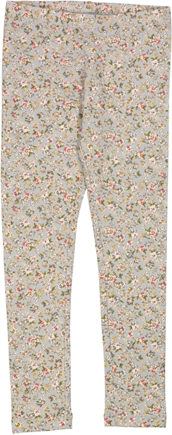 Wheat Jersey leggings - Dusty dove flowers
