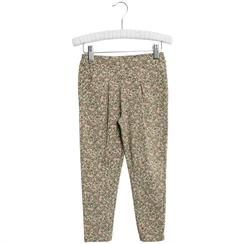 Wheat Soft Pants Abbie - Green flowers