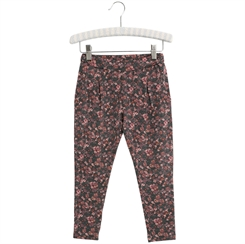 Wheat Soft Pants Abbie - Petroleum flowers