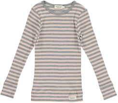 MarMar Modal stripes Tee LS (Rose/Grey melange)