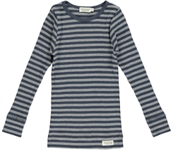MarMar Modal stripes Tee LS (Blue/Grey melange)