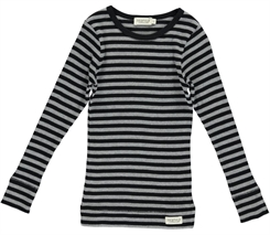 MarMar Modal stripes Tee LS (Black/Grey melange)