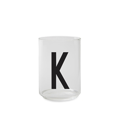 Design Letters Personal drinking glass (K)