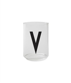 Design Letters Personal drinking glass (V)