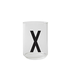 Design Letters Personal drinking glass (X)