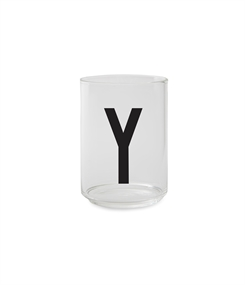 Design Letters Personal drinking glass (Y)