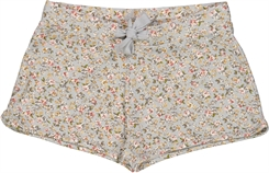 Wheat shorts Edda - Dusty blue flowers