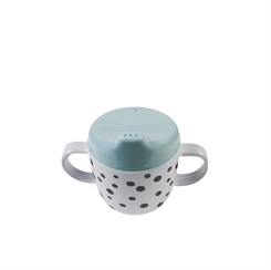 Done by Deer Happy Dots 2 Handle Spout Cup (blue)