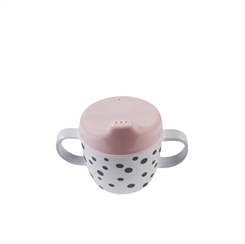 Done by Deer Happy Dots 2 Handle Spout Cup (powder)