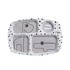 Done by Deer compartment plate - happy dots (grey)