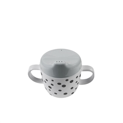 Done by Deer Happy Dots 2 Handle Spout Cup (Grey)