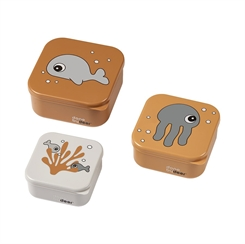 Done by Deer Snack box set - Sea friends (Mustard)
