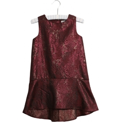 Wheat Dress Karina - Burgundy