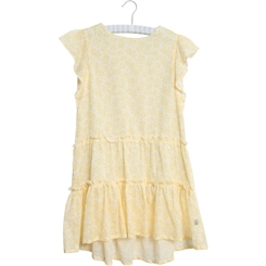 Wheat dress Louise - Lemon flowers
