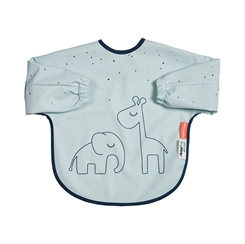 Done by Deer sleeved bib , Dreamy - blue