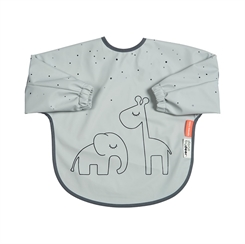 Done by Deer sleeved bib , Dreamy - grey