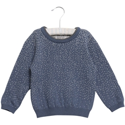 Wheat Knit Pullover Nilas (Blue)
