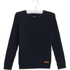 Wheat Knit Pullover Julius (Navy)