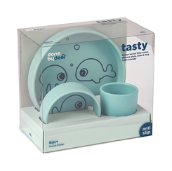 Done by Deer silicone dinner set (Blue)