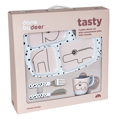 Done By Deer Starter Dinner Set, Happy Dots (Powder)