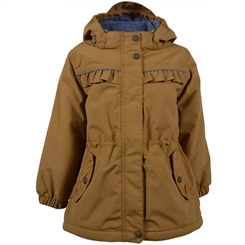 Mikk-Line girl winther Jacket Solid - Golden Brown