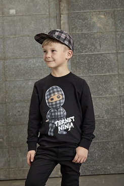 "Ternet Ninja - Anders Matthesen - Kids-Up Sweatshirt ""Ternet ninja"" (sort)"
