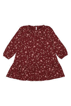 Soft Gallery Alma Dress - Oxblood Red, AOP Flowery