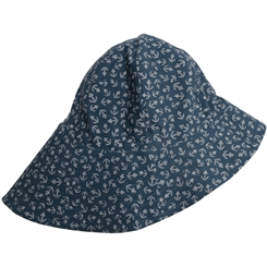 Wheat UV sun hat - Indigo anchor