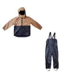 By Lindgren Gunnar PU Set w/Dungarees - Night blue