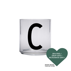 Design Letters Personal tritan drinking glass (C)