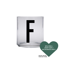 Design Letters Personal tritan drinking glass (F)