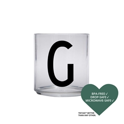Design Letters Personal tritan drinking glass (G)