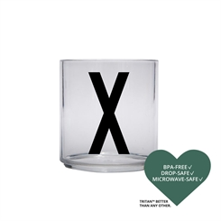 Design Letters Personal tritan drinking glass (X)