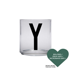 Design Letters Personal Tritan drinking glass (Y)