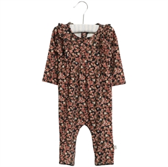Wheat Jumpsuit Gatherings - Midnight blue flowers