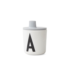 Design Letters ABC Kop Drink Lid (Grey)