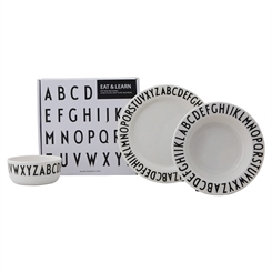 Design Letters melamine gift set - numbers (white)