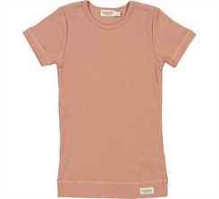 MarMar Plain Tee SS - Rose Brown