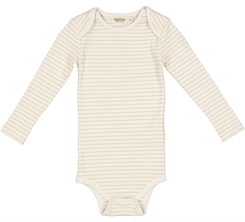 MarMar Ben rib Body LS - Hay stripes