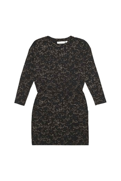 Soft Gallery Vigdis Dress - Jet black, AOP Flowerdust