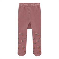 MP/Soft Gallery baby tights - Woodrose, AOP Flowerberry