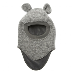 Huttelihut Elefanthue w. Ears 30 (Light Grey/Wool Ear)