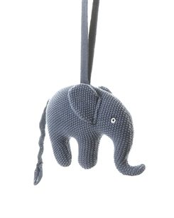 Smallstuff strikket musikuro - elefant (blue)