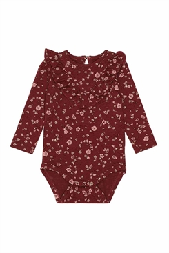 Soft Gallery Annie Body - Oxblood Red, AOP Flowery