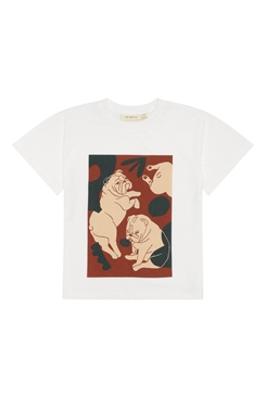 Soft Gallery Asger T-shirt - Snow White, Bulldogs